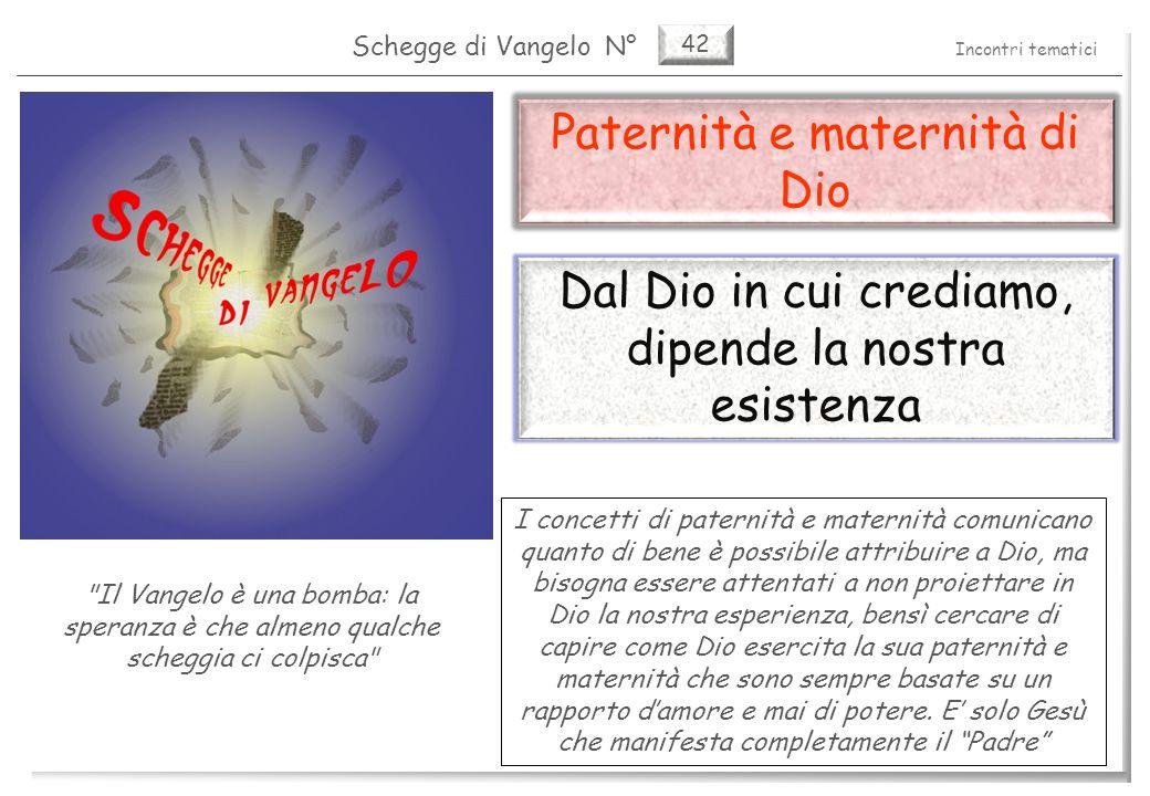 42 Paternità e maternità di Dio La nostra immagine di Dio 2 Pag.