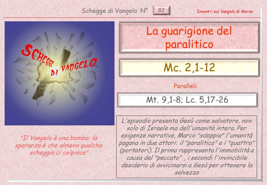 82 Schegge di VangeloN° Incontri sul Vangelo di Marco