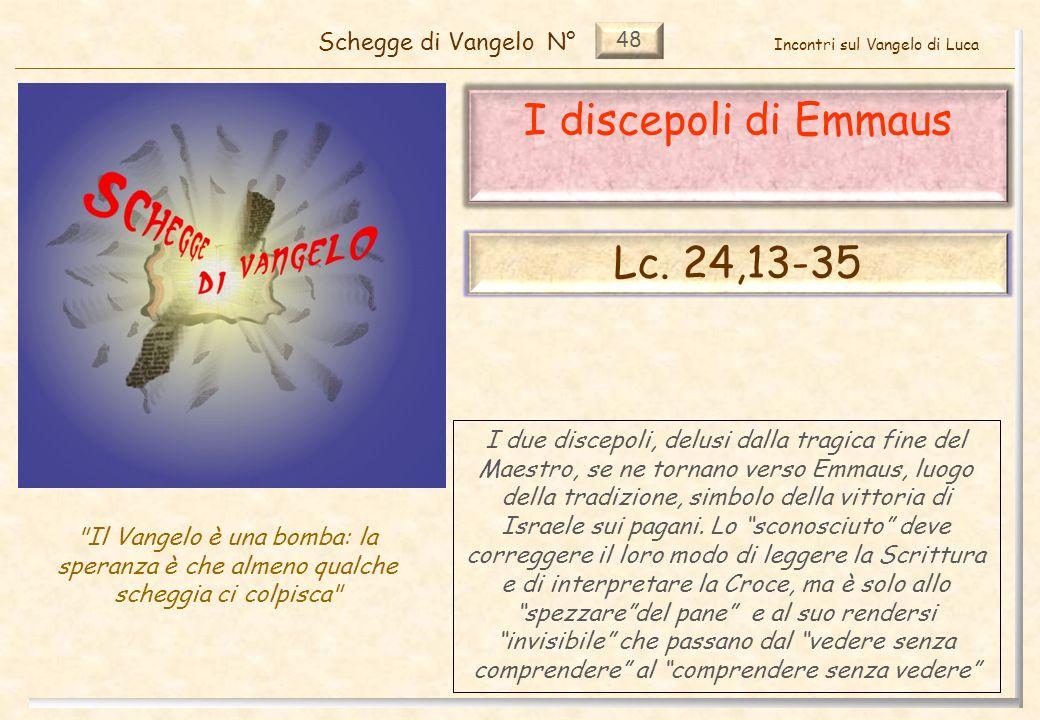 48 I discepoli di Emmaus (Lc.24,13-35) Approfondimento (1) 12 Pag.