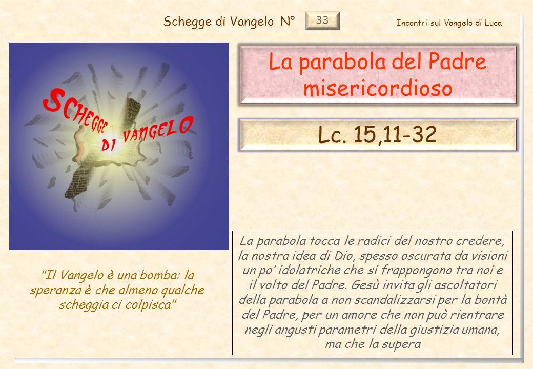 33 La parabola del Padre misericordioso Schegge di VangeloN°