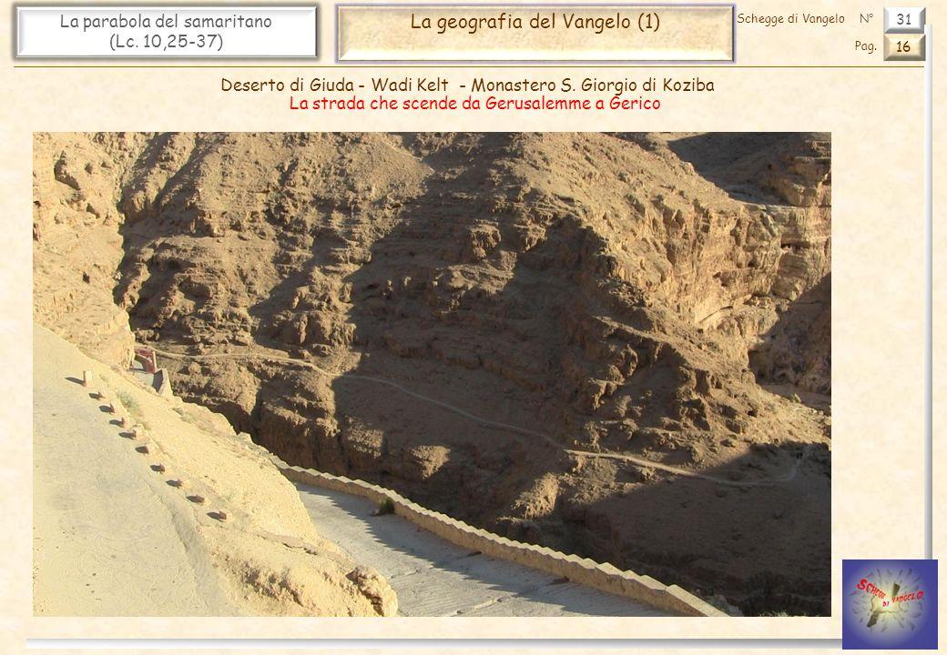 31 La parabola del samaritano (Lc. 10,25-37) La geografia del Vangelo (1) 16 Pag. Schegge di VangeloN° Deserto di Giuda - Wadi Kelt - Monastero S. Gio