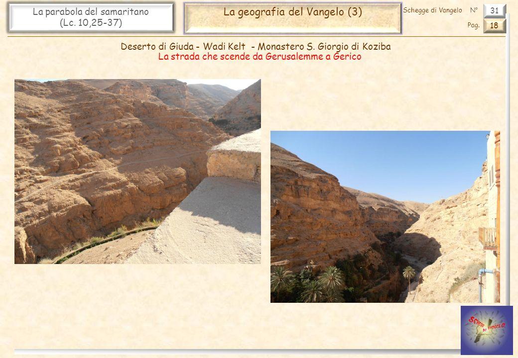 31 La parabola del samaritano (Lc. 10,25-37) La geografia del Vangelo (3) 18 Pag. Schegge di VangeloN° Deserto di Giuda - Wadi Kelt - Monastero S. Gio
