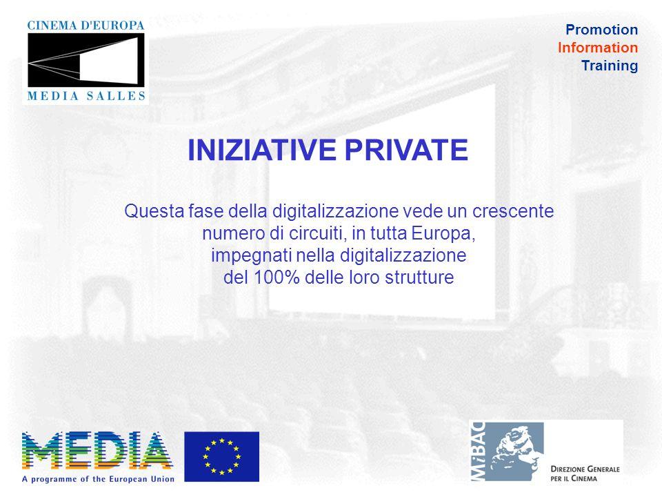 Promotion Information Training Schermi digitali in Europa: la situazione dei principali circuiti (al 1°gennaio 2011)