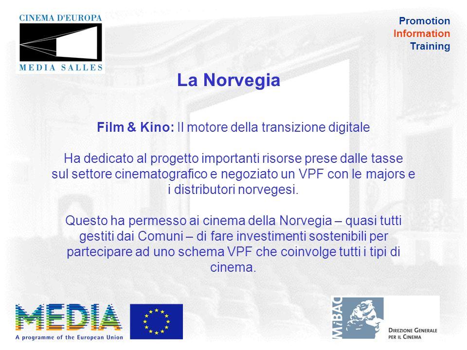 Promotion Information Training La Norvegia Brigitte Langballe (Film&Kino): La proiezione digitale, in effetti, ha permesso alle sale di piccole – e medie – dimensioni di migliorare la loro offerta e mettere più titoli in programmazione
