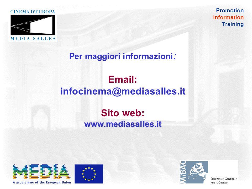 Promotion Information Training ITALIA Le associazioni di distributori ed esercenti nel dicembre 2009 hanno siglato un accordo per creare un modello VPF valido per lintero mercato italiano da marzo 2011 la quota VPF ammonta a 480 per ogni copia digitale 782 schermi hanno aderito al programma finora