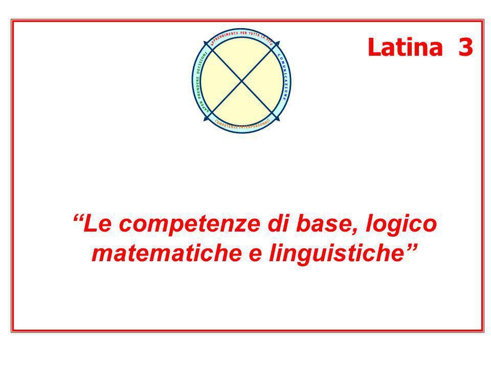 Latina 3 Le competenze di base, logico matematiche e linguistiche