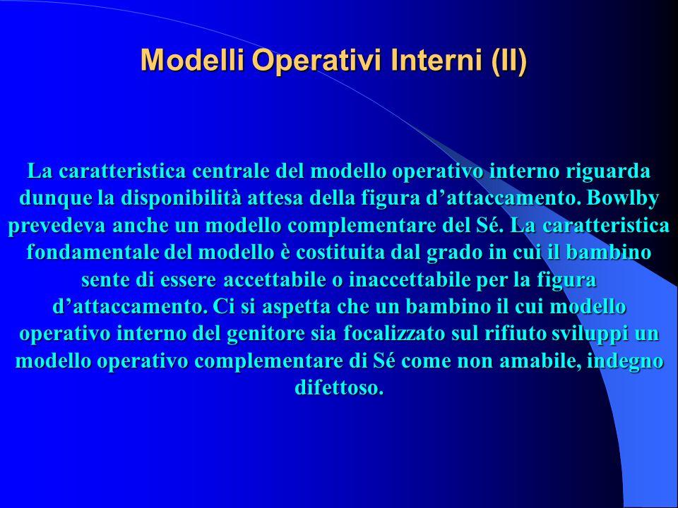 Modelli Operativi Interni (II) La caratteristica centrale del modello operativo interno riguarda dunque la disponibilità attesa della figura dattaccam