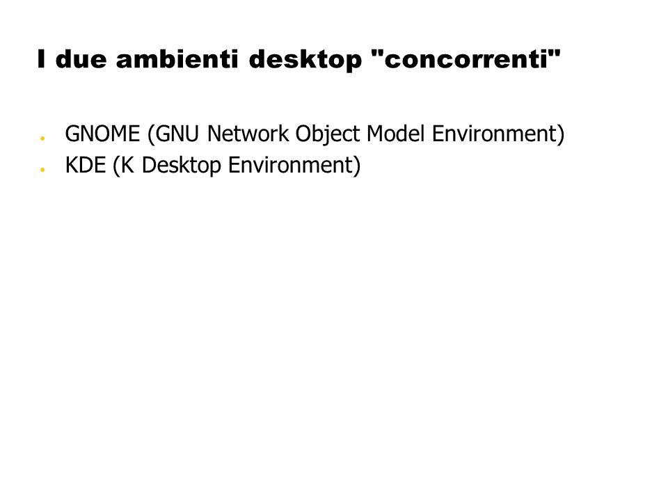I due ambienti desktop