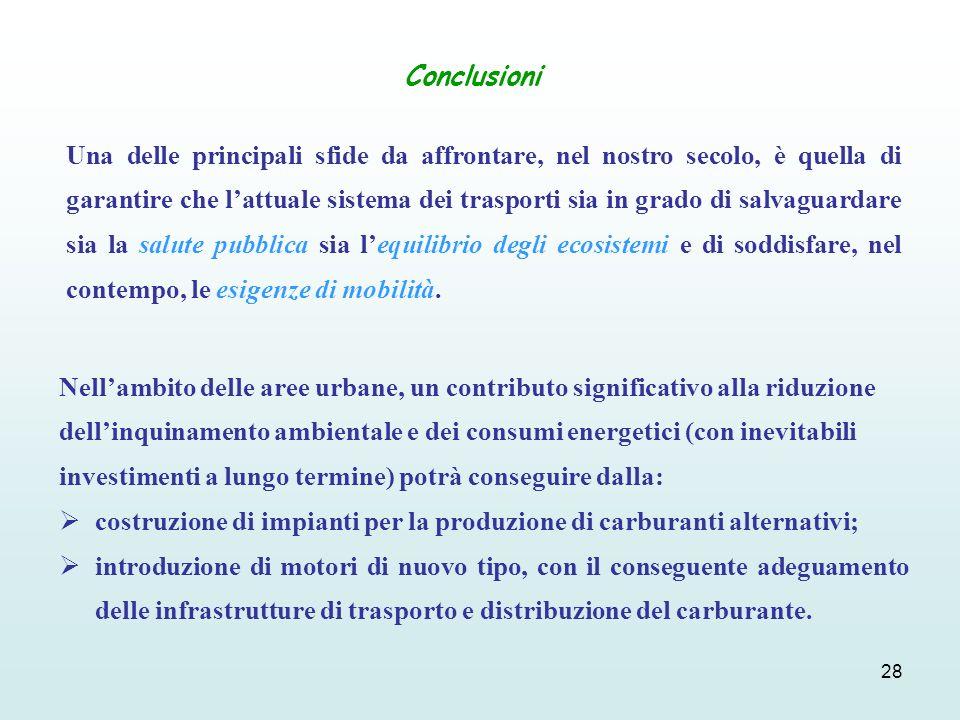 28 Conclusioni Nellambito delle aree urbane, un contributo significativo alla riduzione dellinquinamento ambientale e dei consumi energetici (con inev