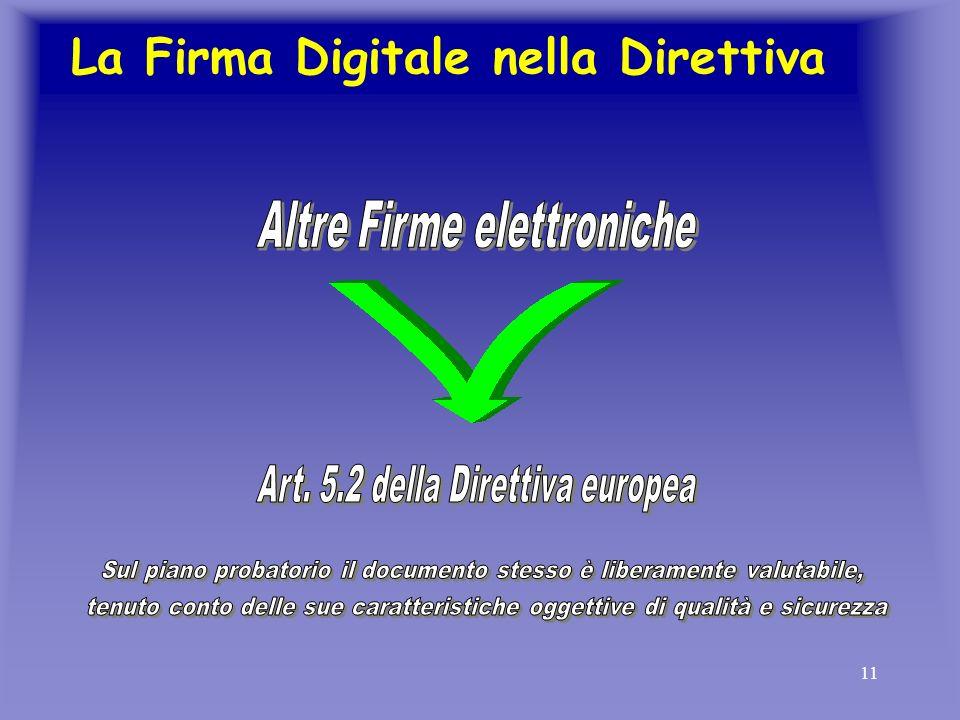 11 La Firma Digitale nella Direttiva