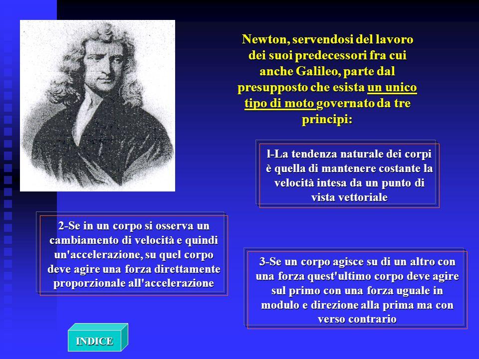 Newton, servendosi del lavoro dei suoi predecessori fra cui anche Galileo, parte dal presupposto che esista un unico tipo di moto governato da tre pri