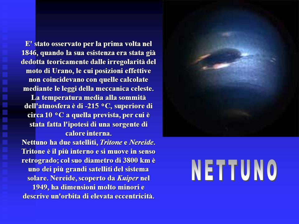 E' stato osservato per la prima volta nel 1846, quando la sua esistenza era stata già dedotta teoricamente dalle irregolarità del moto di Urano, le cu