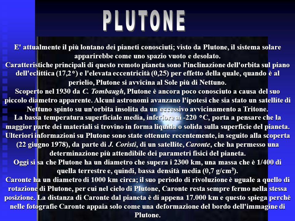 E' attualmente il più lontano dei pianeti conosciuti; visto da Plutone, il sistema solare apparirebbe come uno spazio vuoto e desolato. Caratteristich