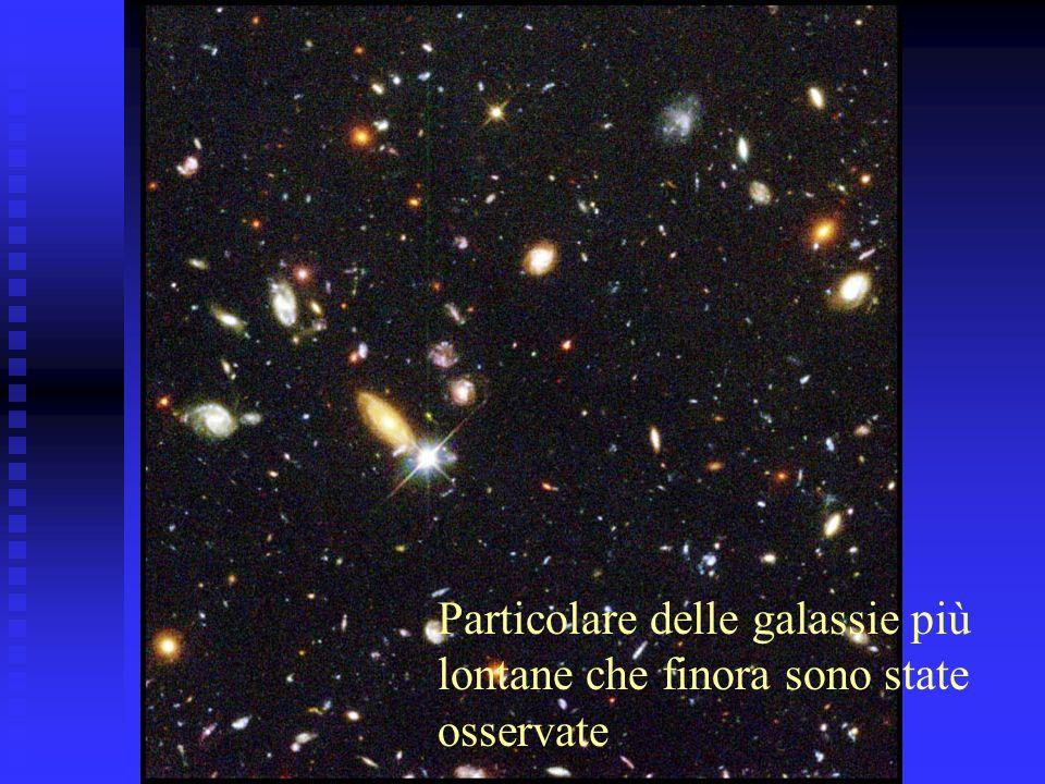 Particolare delle galassie più lontane che finora sono state osservate