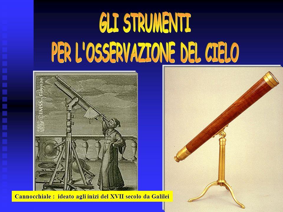 Cannocchiale : ideato agli inizi del XVII secolo da Galilei