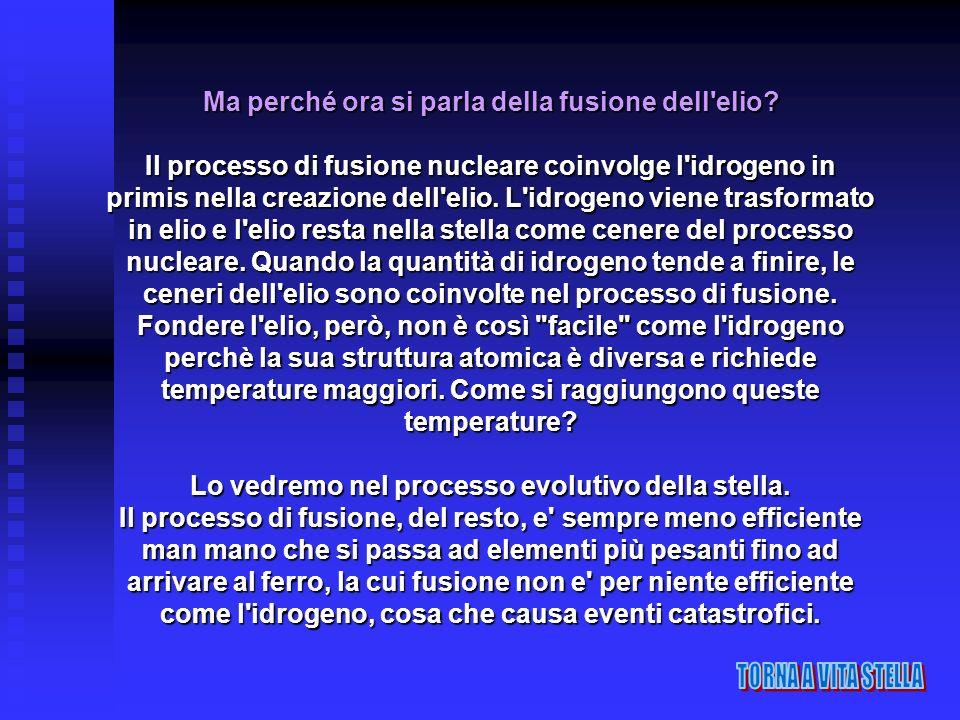 Ma perché ora si parla della fusione dell'elio? Il processo di fusione nucleare coinvolge l'idrogeno in primis nella creazione dell'elio. L'idrogeno v