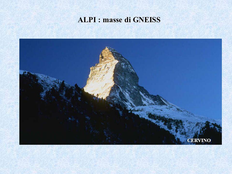 ALPI : masse di GNEISS CERVINO
