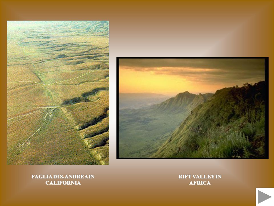 FAGLIA DI S.ANDREA IN CALIFORNIA RIFT VALLEY IN AFRICA