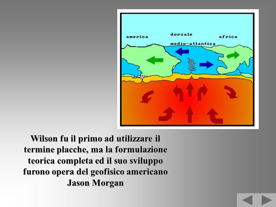 Wilson fu il primo ad utilizzare il termine placche, ma la formulazione teorica completa ed il suo sviluppo furono opera del geofisico americano Jason