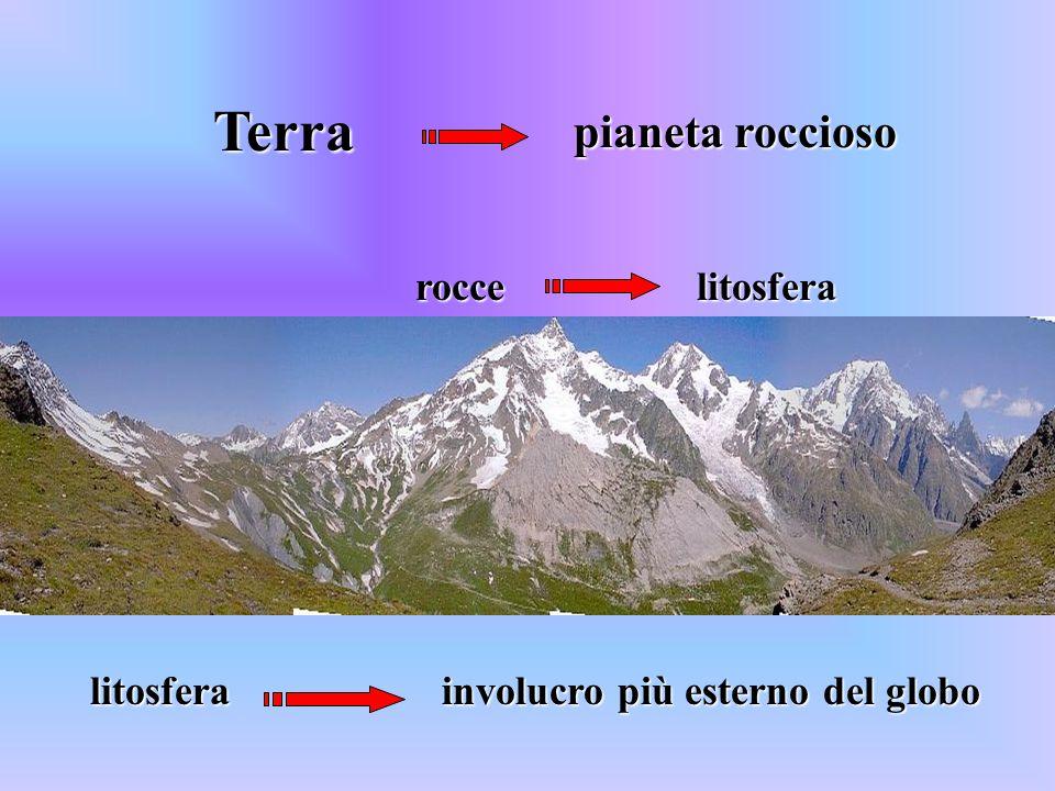 Terra pianeta roccioso roccelitosfera litosfera involucro più esterno del globo