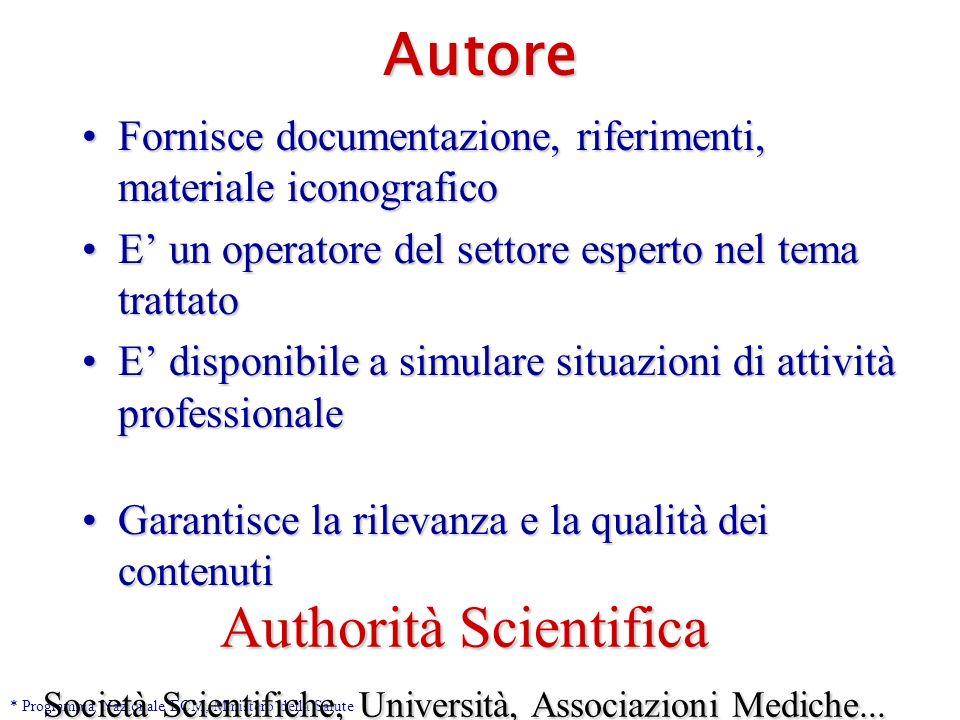 Docente Responsabile scientifico del processo didattico.