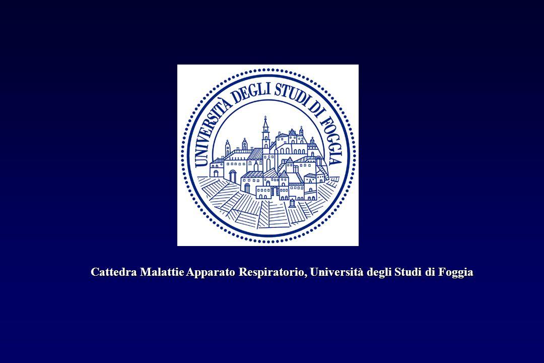 Cattedra Malattie Apparato Respiratorio, Università degli Studi di Foggia
