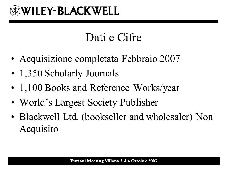 Ebsco Event 27 th September 2007 Milan Burioni Meeting Milano 3 &4 Ottobre 2007 PUBLISHER Estimated N.