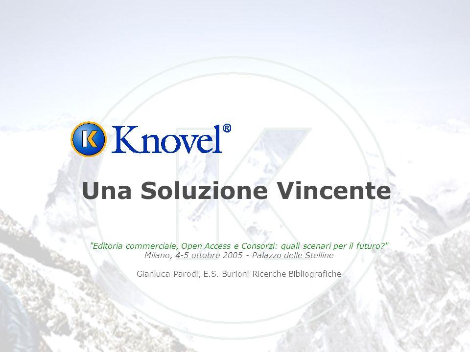 Editoria commerciale, Open Access e Consorzi: quali scenari per il futuro Milano, 4-5 ottobre 2005 - Palazzo delle Stelline Gianluca Parodi, E.S.