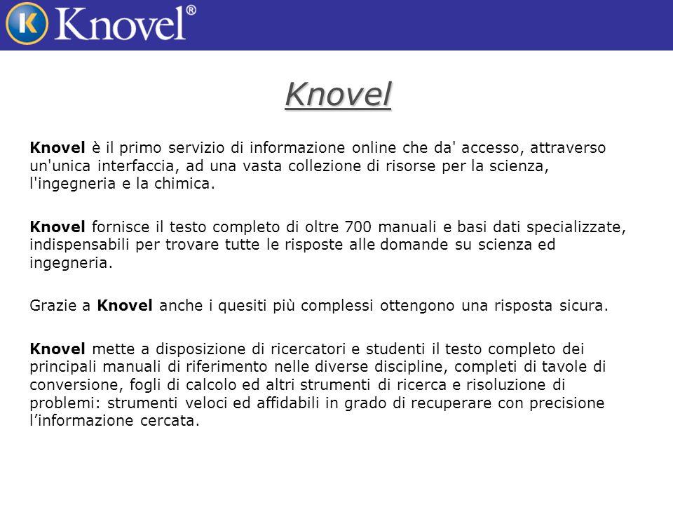 La tecnologia di Knovel Grafici Interattivi Grazie a Knovel è possibile interagire con curve e grafici.