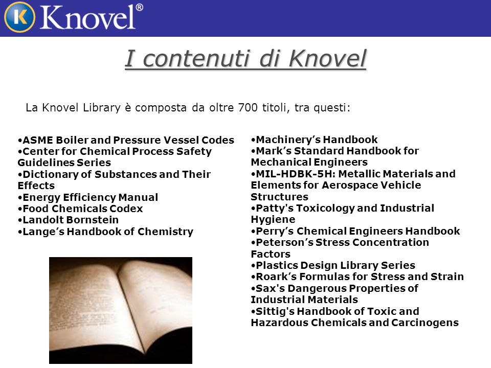Linterfaccia di Knovel Un singolo campo di ricerca compare su ogni pagina della Knovel Library.