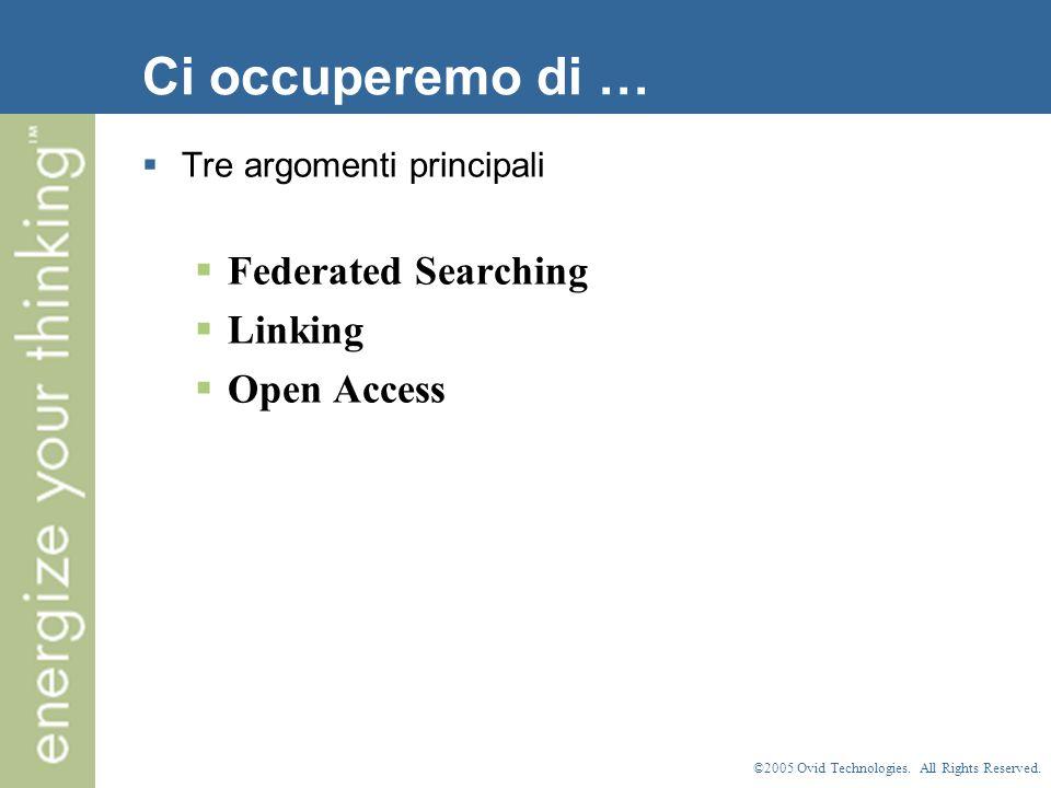 ©2005 Ovid Technologies. All Rights Reserved. Inizio della ricerca
