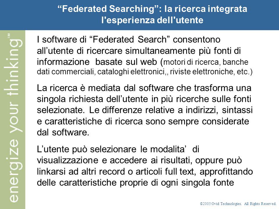 ©2005 Ovid Technologies. All Rights Reserved. Esportazione dei risultati