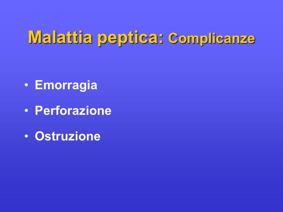Emorragia Perforazione Ostruzione Malattia peptica: Complicanze