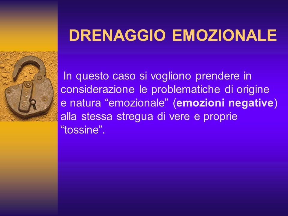 In questo caso si vogliono prendere in considerazione le problematiche di origine e natura emozionale (emozioni negative) alla stessa stregua di vere