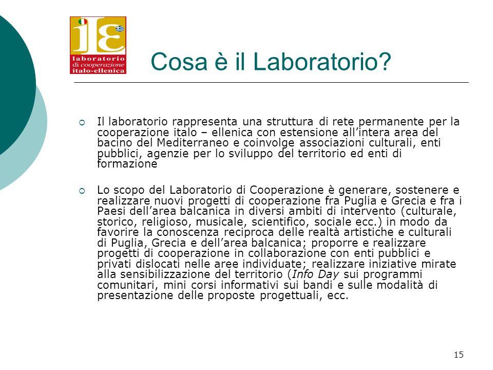 15 Cosa è il Laboratorio.