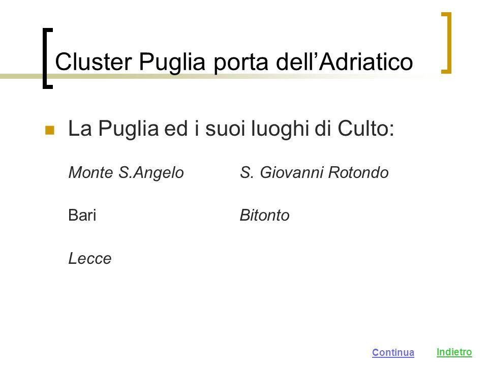 Cluster Puglia porta dellAdriatico La Puglia ed i suoi luoghi di Culto: Monte S.AngeloS.