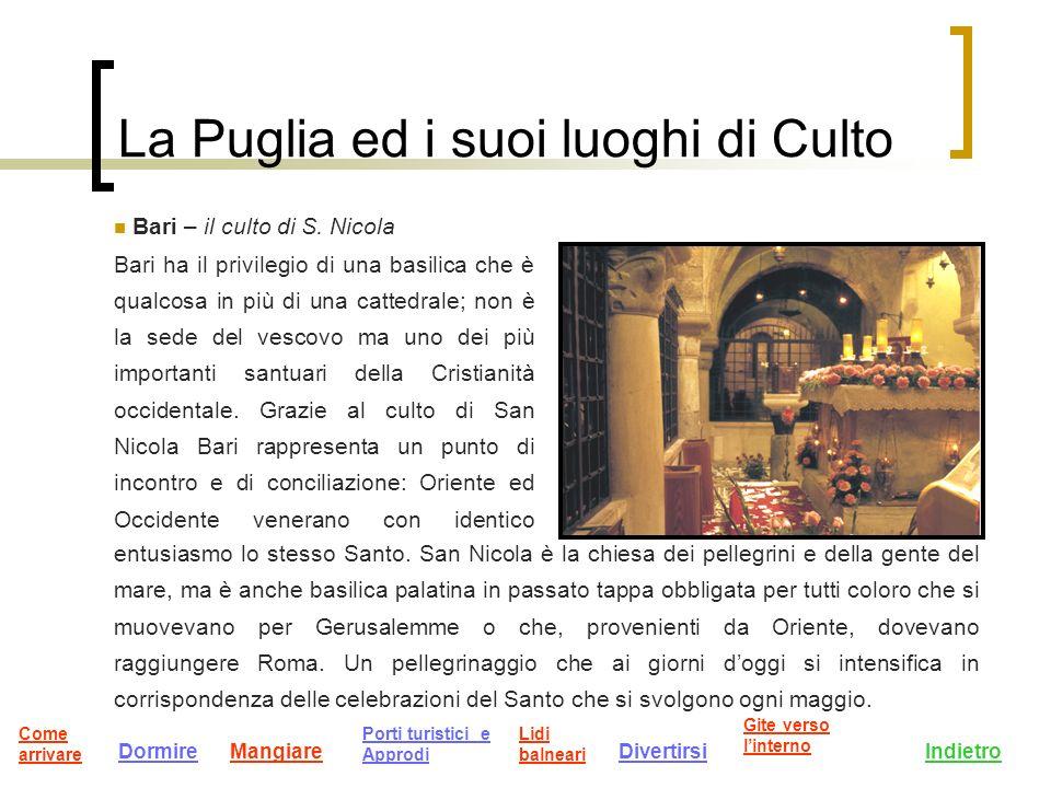 La Puglia ed i suoi luoghi di Culto Bari – il culto di S.