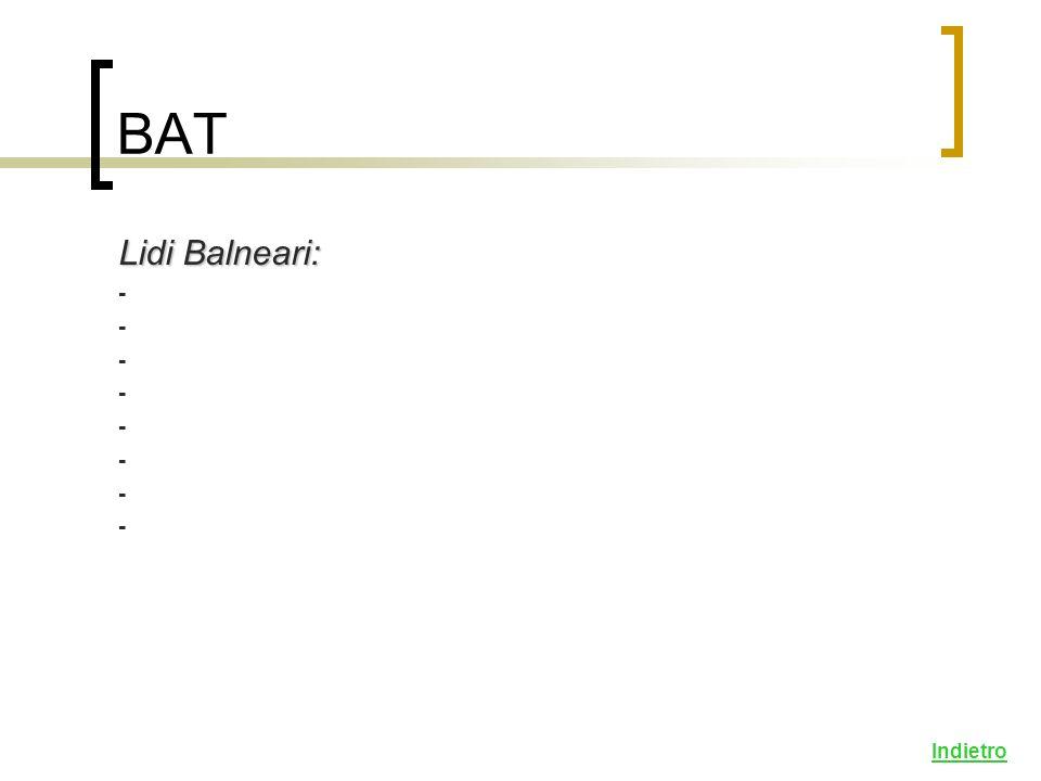 BAT Lidi Balneari: - Indietro
