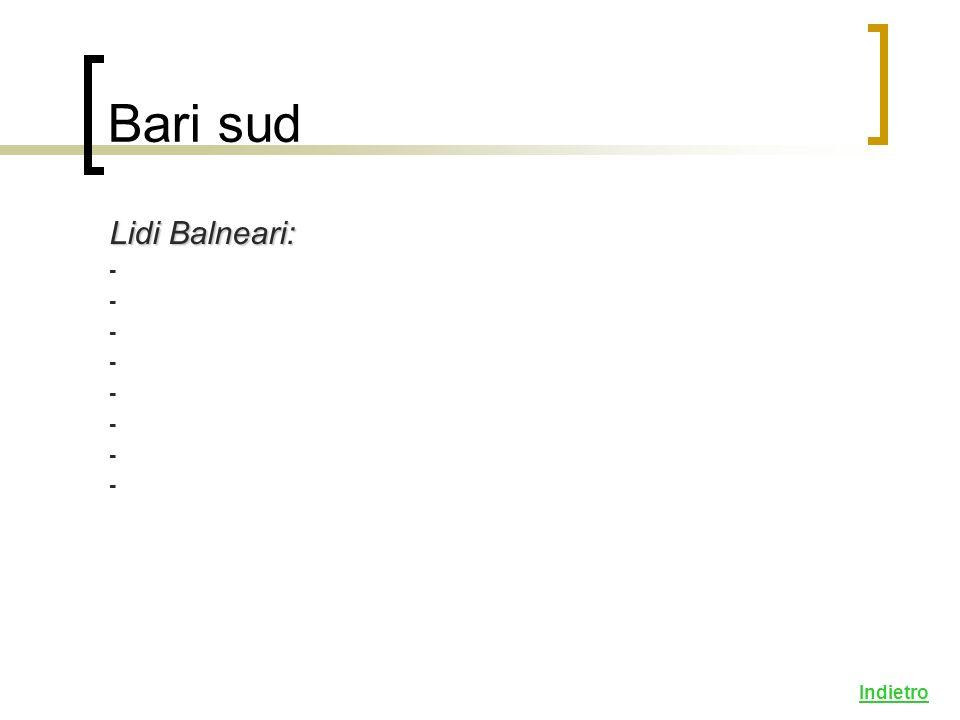 Lidi Balneari: - Indietro Bari sud
