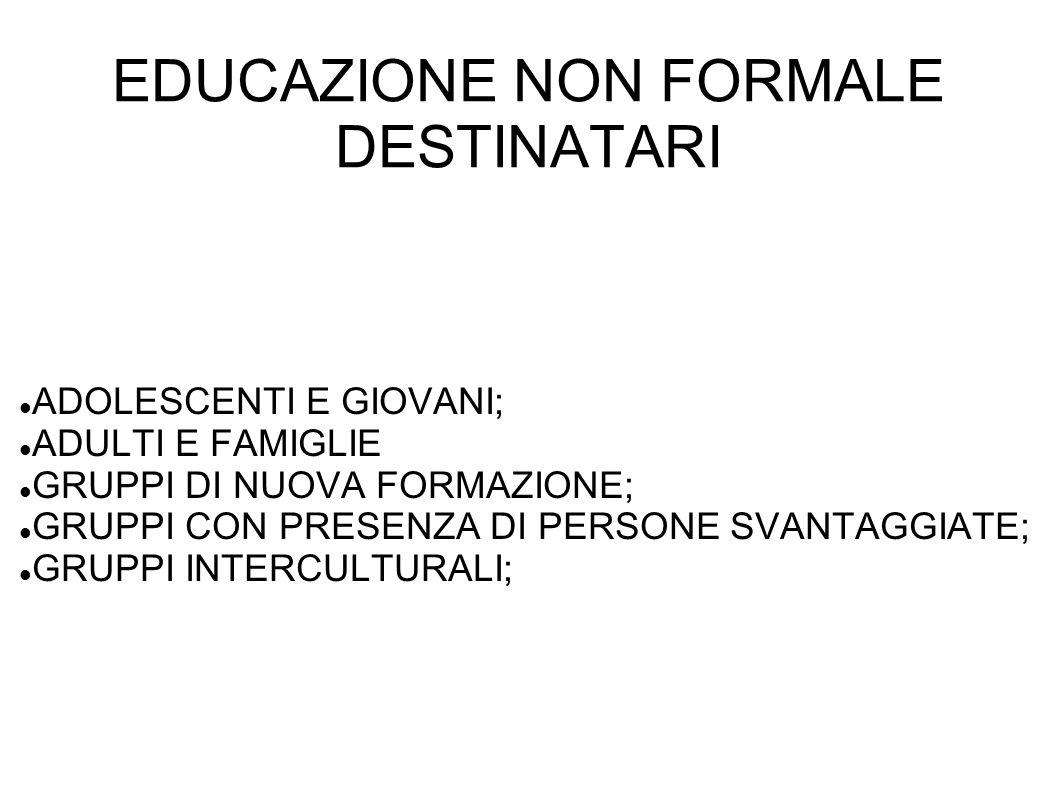 EDUCAZIONE NON FORMALE STRUMENTI LO STRUMENTO PRINCIPALE E IL GIOCO!!.