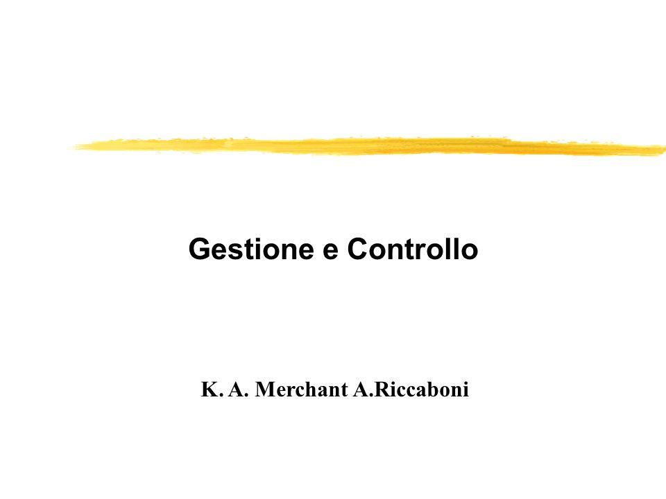 Gestione e Controllo K. A. Merchant A.Riccaboni