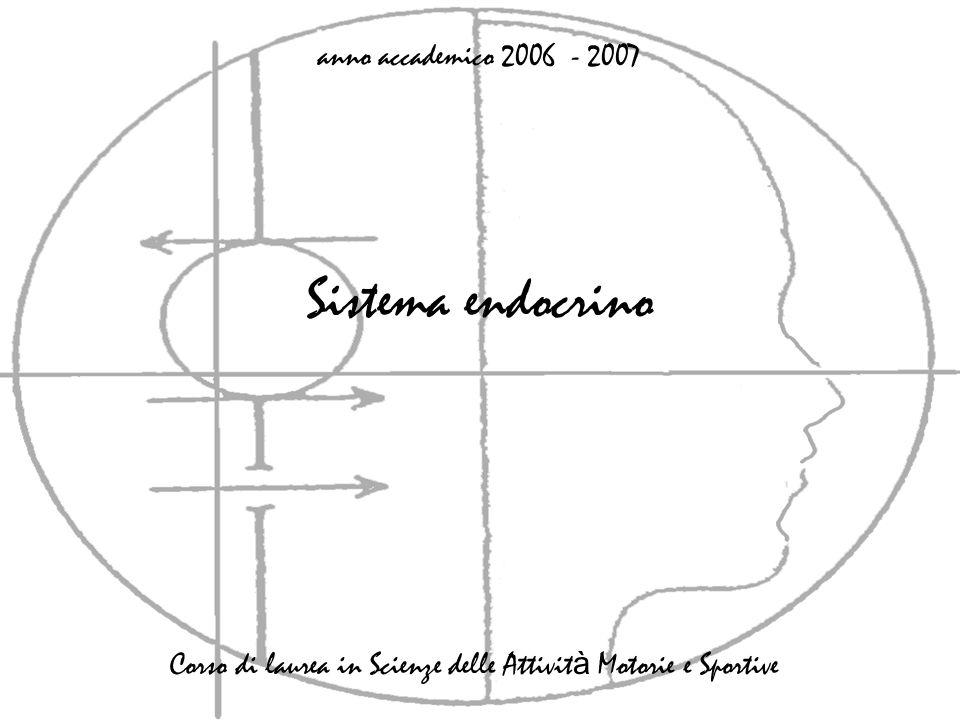 Sistema endocrino anno accademico 2006 - 2007 Corso di laurea in Scienze delle Attivit à Motorie e Sportive
