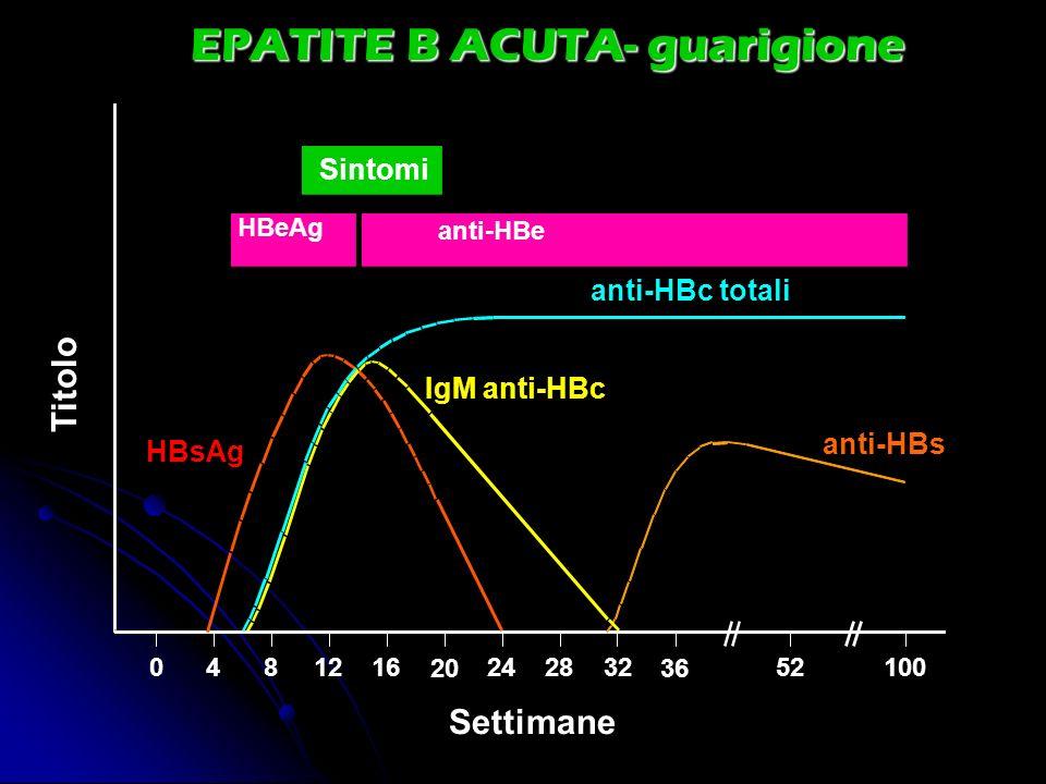 EPATITE B ACUTA- guarigione