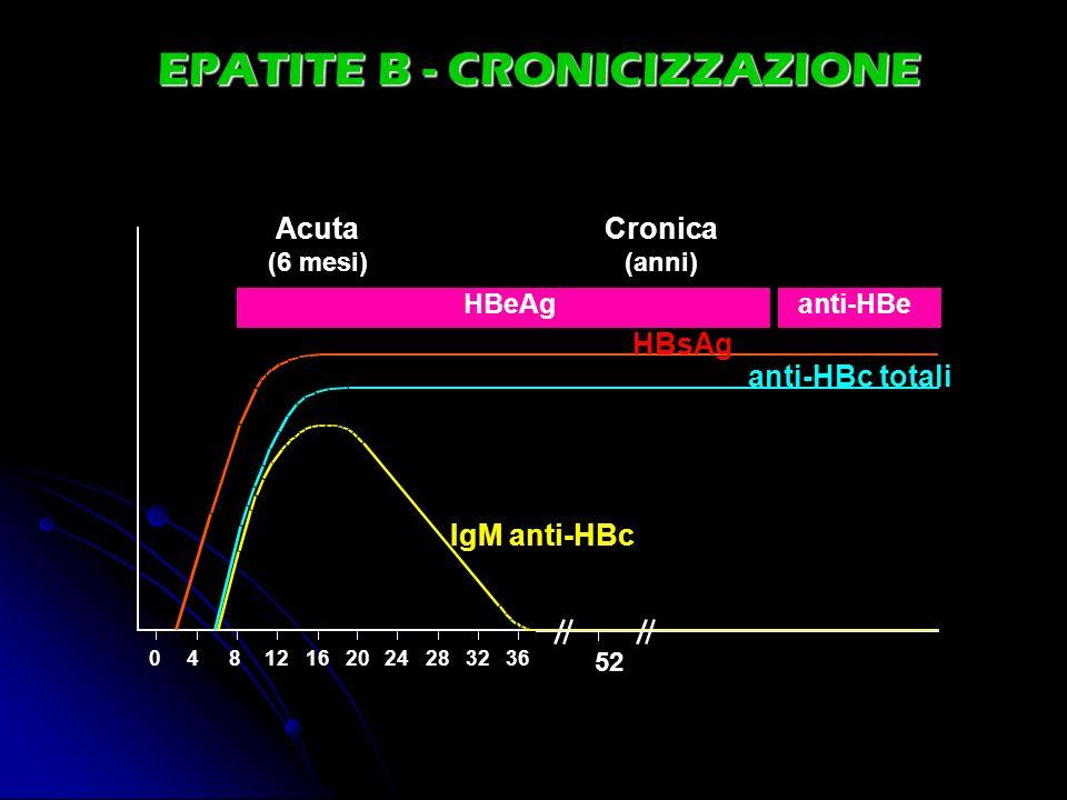 EPATITE B - CRONICIZZAZIONE