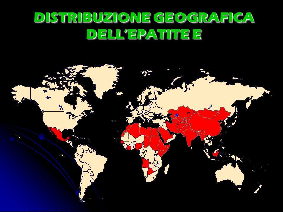 DISTRIBUZIONE GEOGRAFICA DELLEPATITE E