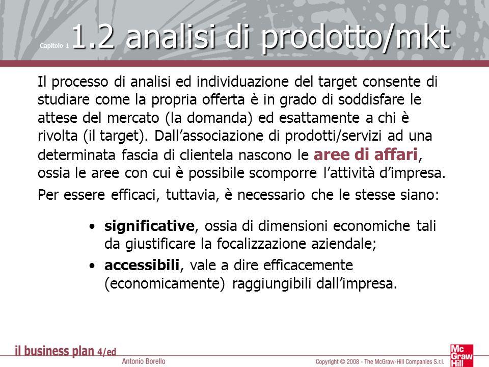 Il processo di analisi ed individuazione del target consente di studiare come la propria offerta è in grado di soddisfare le attese del mercato (la do
