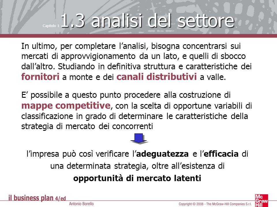 1.3 analisi del settore Capitolo 1 1.3 analisi del settore In ultimo, per completare lanalisi, bisogna concentrarsi sui mercati di approvvigionamento