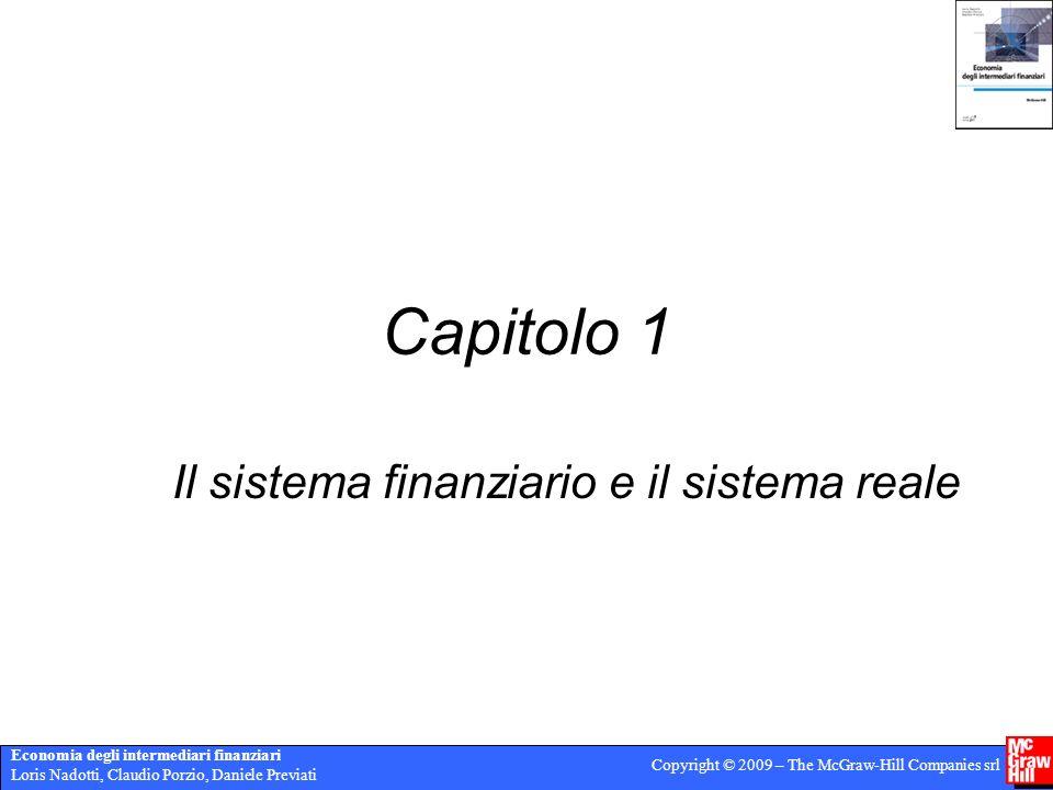 Economia degli intermediari finanziari Loris Nadotti, Claudio Porzio, Daniele Previati Copyright © 2009 – The McGraw-Hill Companies srl Capitolo 1 Il