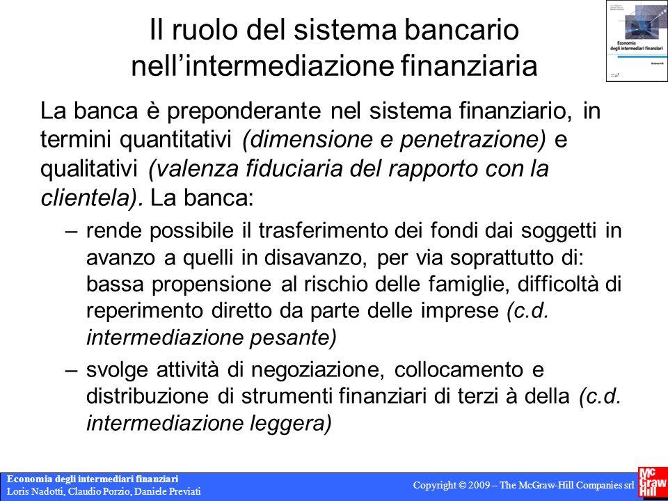Economia degli intermediari finanziari Loris Nadotti, Claudio Porzio, Daniele Previati Copyright © 2009 – The McGraw-Hill Companies srl Il ruolo del s