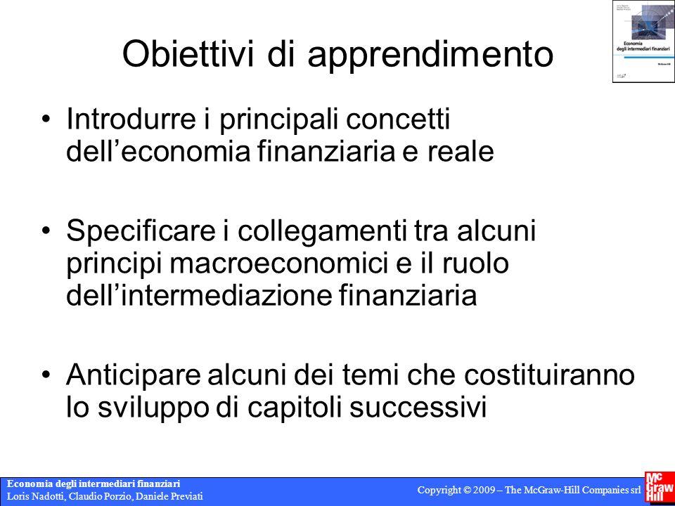 Economia degli intermediari finanziari Loris Nadotti, Claudio Porzio, Daniele Previati Copyright © 2009 – The McGraw-Hill Companies srl Obiettivi di a
